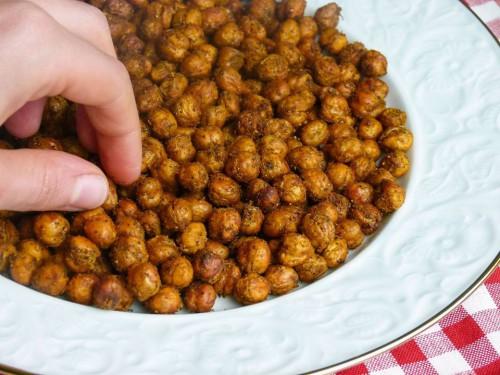 Geröstete Kichererbsen mit orientalischem Gewürz-Mix