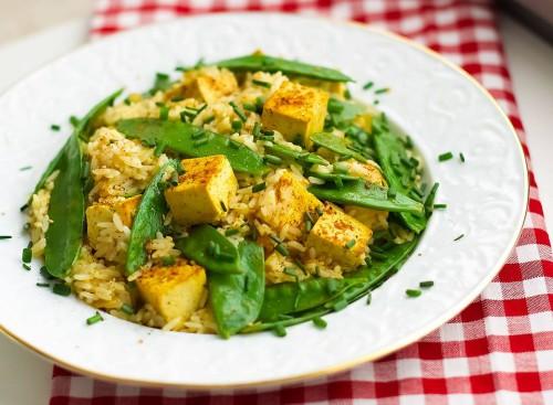 Gebratener Tofu mit Orangen Sesam Soße