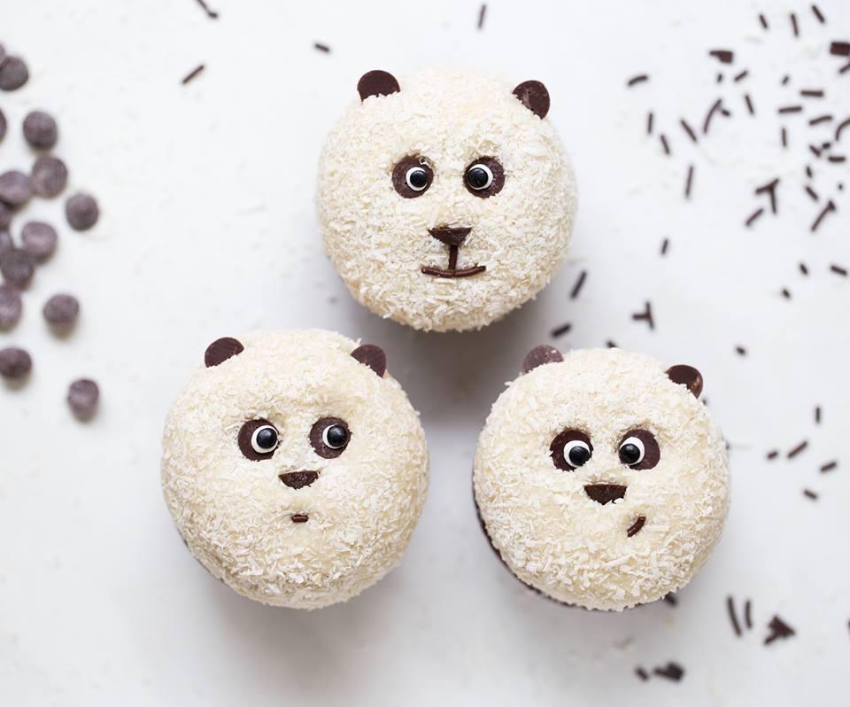 Vegane Panda Muffins