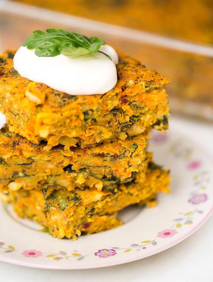 Veganer Gemuesekuchen mit Spinat