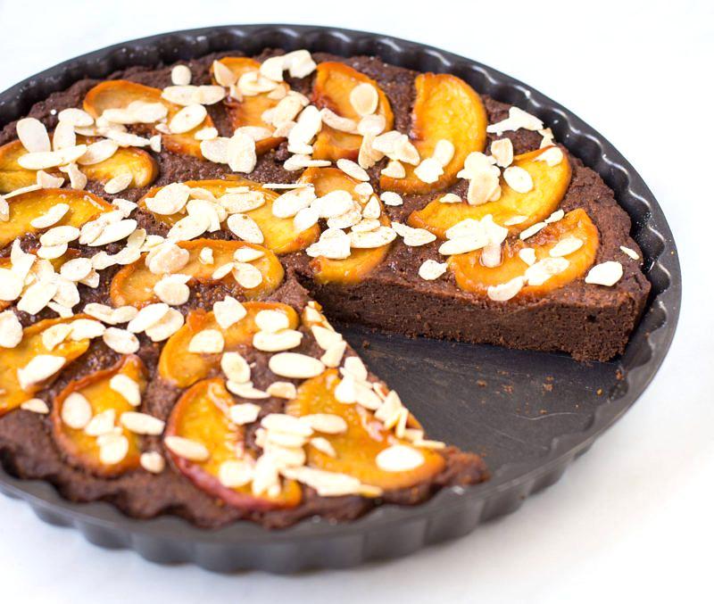 Protein Tarte mit Pfirsich