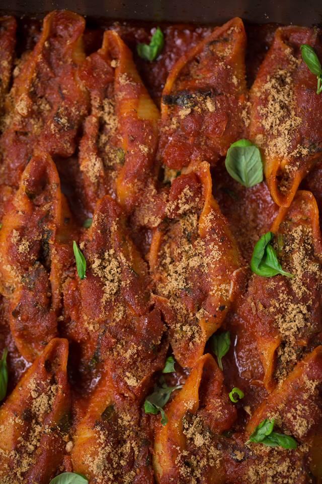Vegane Conchiglioni mit Cashew Ricotta