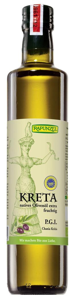 Olivenöl Kreta P.G.I., nativ extra bio (500ml)